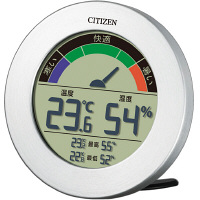 シチズン 温湿度計 ライフナビD67B 銀