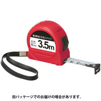 アスクル 「現場のチカラ」 コンベックス 16mm幅×3.5m 赤 1セット(10個)