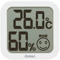 ドリテック デジタル温湿度計 白 O-271WT 1セット(6個)