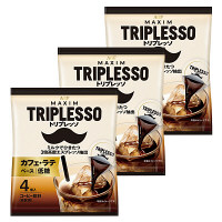 AGF トリプレッソポーションコーヒー カフェ・ラテベース低糖 1セット(12個)