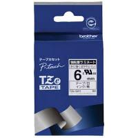 ピータッチ 強粘着ラミネートテープ 白ラベル TZe-S211 [黒文字 6mm×8m]