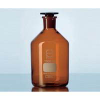 SCHOTT(ショット) 試薬瓶(栓付き)(デュラン(R)) 茶 2000mL 1本 2-1971-07 (直送品)