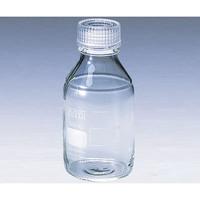 アズワン ねじ口瓶丸型白(デュラン(R)) 透明キャップ付 500mL 1本 2-035-04 (直送品)