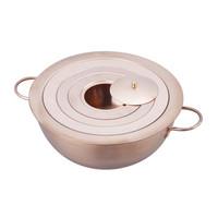 野中理化器製作所 湯煎器(銅製ウオーターバス) φ180mm 180 1台 1-1516-02 (直送品)