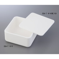 ニッカトー アルミナ焼成用容器 角型るつぼ 90角×50mm 1個 1-1736-01 (直送品)