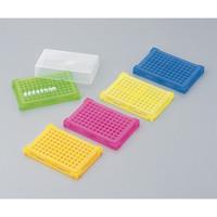 アズワン PCRラック 本体・フタ5色パック(青・緑・オレンジ・ピンク・黄×各4個入) 1箱(20個) 1-4309-01 (直送品)