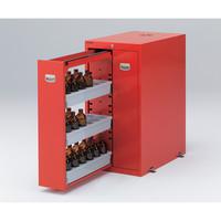 アズワン 耐震薬品庫(スチール製) 450×700×900 赤 1個 1-4531-01 (直送品)