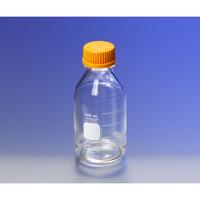 PYREX メディウム瓶(PYREX(R)オレンジキャップ付き) 透明 250mL 1本 1-4994-04 (直送品)