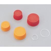 PYREX メディウム瓶交換キャップ オレンジ GL-45 1395-45LTC 1本 1-4995-02 (直送品)