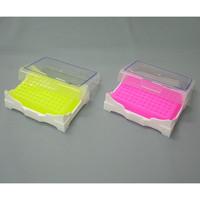 アズワン アイソフリーズPCRラック 緑(冷却時)・黄色(常温時) 1箱(2個) 1-5531-02 (直送品)
