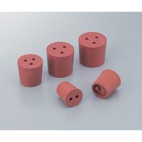 アズワン 穴付き赤ゴム栓 9号 1個入 1個 1-7649-02 (直送品)