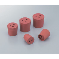 アズワン 穴付き赤ゴム栓 8号 1個入 1個 1-7649-01 (直送品)