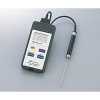 熱研 防水型デジタル温度計(ハイパーサーモ)本体 1台 1-8348-01 (直送品)