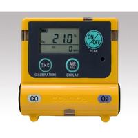 新コスモス電機 装着型ガス濃度計 0〜25vol%(25〜50vol%)、0〜300ppm(300〜2000ppm) 1台 1-8793-13 (直送品)