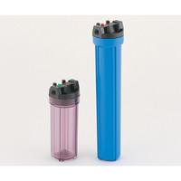 アズワン 樹脂製フィルターハウジング 10in 透明 3/4 1個 1-9022-01 (直送品)