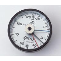 イチネンTASCO バイメタル表面温度計 TMS50N-250 低温・高温各表示針付き 1個 1-9897-04 (直送品)