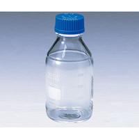 アズワン ねじ口瓶丸型白(デュラン(R)) 青キャップ付 500mL 1本 2-077-04 (直送品)