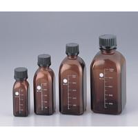 柴田科学 ねじ口瓶角型茶 黒キャップ付 125mL GL-32 1本 2-079-01 (直送品)
