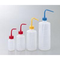 アズワン 洗浄瓶カラフルバリエ細口 イエロー 1L 1本 4-5664-04 (直送品)