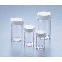 アズワン スチロールT型瓶 白 140mL 5-027-01 (直送品)