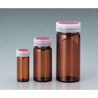 マルエム サンプル管瓶 No.8 褐色 110mL 1本 5-097-10 (直送品)