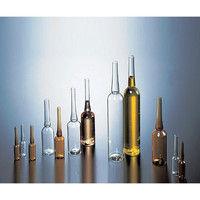 マルエム アンプル管(硼珪酸ガラス製) 10mL 白色 150本入 1箱(150本) 5-124-04 (直送品)