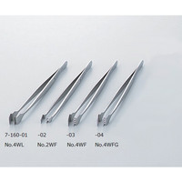 アズワン フラットピンセット No.4WFG 幅広 特殊鋼 1本 7-160-04 (直送品)