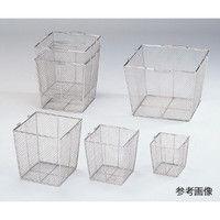 アズワン ステンレス角型洗浄カゴ(テーパ付) 大 300角(240角)×300mm 1個 7-5332-02 (直送品)