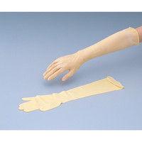 アズワン 天然ラテックスゴムロング手袋 M 25双 1箱(25双) 8-5311-02 (直送品)