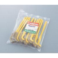 アズワン ラボランナイロンホルダーブラシ 黄 真鍮 J-B 11本 1袋(11本) 9-830-01 (直送品)