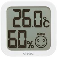 ドリテック デジタル温湿度計 白 O-271WT 1個
