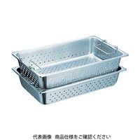 スギコ産業(SUGICO) ハンドル付穴明パン SUS304 1/1サイズ 530×325×150 SH-1906GPH 1枚 500-8158 (直送品)