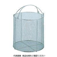三和 サンワ ステンレス丸型洗浄カゴ 大 SM-30 1個 505-6977 (直送品)