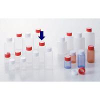 ケーエム化学 ミニサンプルボトル(パッキン付) 20cc アカ 1箱(100本入) (取寄品)