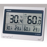 佐藤計量器製作所 デジタル温湿度計 PC-5400TRH 1台 2-3507-01 (直送品)