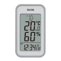 タニタ デジタル温湿度計 グレー TT559GY 1セット(3個)