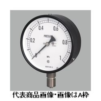 長野計器 普通形圧力計(屋内・耐食用)φ100 埋込形 1個 (直送品)
