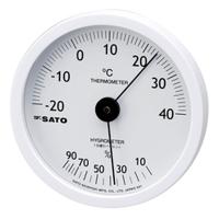 佐藤計量器製作所 ホワイティ温湿度計 1個 (直送品)