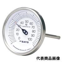 佐藤計量器製作所 バイメタル温度計 BM-T-90S (-30〜50℃、L=60mm、 R(PT)1/2) 1本 (直送品)