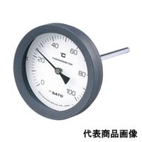 佐藤計量器製作所 バイメタル温度計 BM-T-100P (0/50℃、 L=50mm、 R(PT) 1/2) 1個 (直送品)
