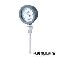 佐藤計量器製作所 バイメタル温度計 BM-S-75P (0/150℃、 L=100mm、 R(PT) 1/2) 1個 (直送品)