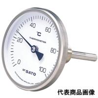 佐藤計量器製作所 バイメタル温度計 BM-T-75 (-30〜50℃、L=100mm、 R(PT)1/2) 1個 (直送品)