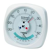 佐藤計量器製作所 ミニマックスI型最高最低温度計(湿度計付) 1台 (直送品)