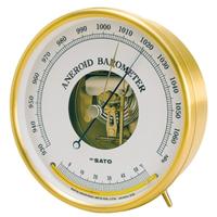 佐藤計量器製作所 アネロイド気圧計(温度計付) 1個 (直送品)