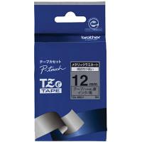 ピータッチ メタリックテープ 銀(つや消し)ラベル TZe-M931 [黒文字 12mm×8m]