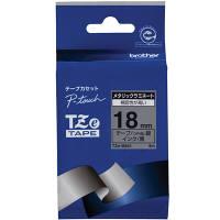 ピータッチ メタリックテープ 銀(つや消し)ラベル TZe-M941 [黒文字 18mm×8m]