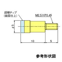 テクロック 超硬測定子 ZS-532 1個 (直送品)
