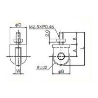 テクロック ローラ測定子 ZS-803 1個 (直送品)