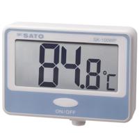 佐藤計量器製作所 壁掛型防水デジタル温度計 SK-100WP (指示計のみ) 1台 (直送品)