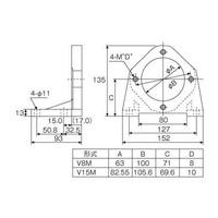 ダイキン工業(DAIKIN) ピストンポンプ用フート V38M 1個 101-5559 (直送品)